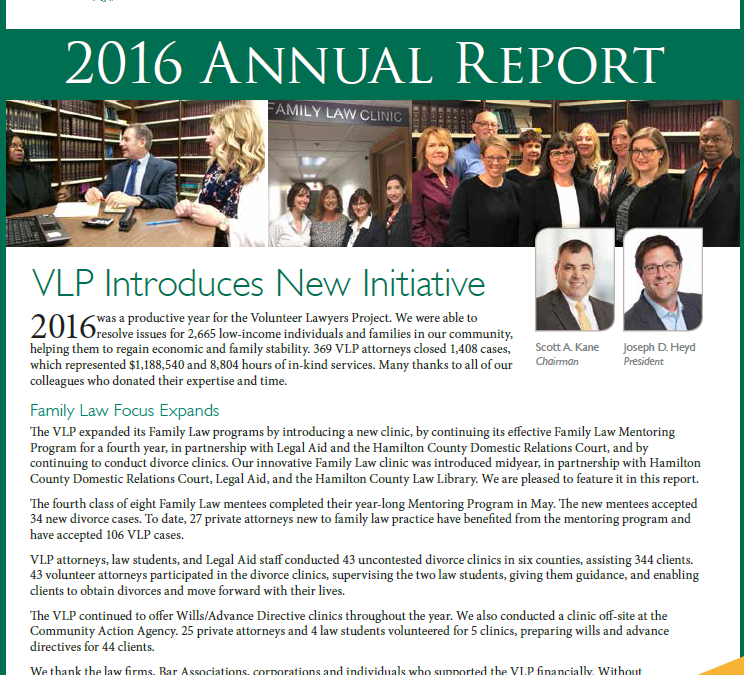 Check Out The VLPF's 2016 Annual Report!